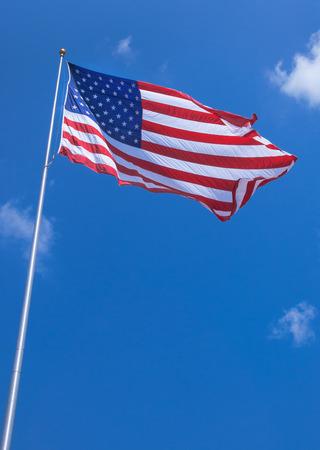 Urbanrural park usa flag waving tall