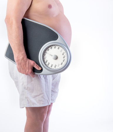 Professional weight scale and Obese male