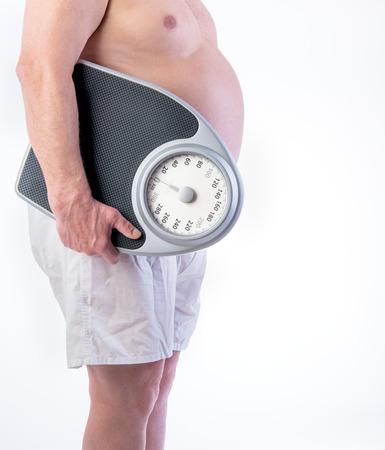 プロ重量スケールと肥満の男性