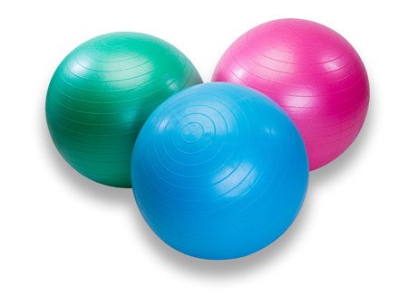 health club: Colorful set of workout balls  for health club
