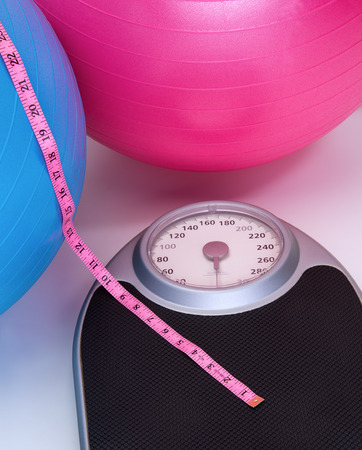 Weight scale and fitness  workout gear