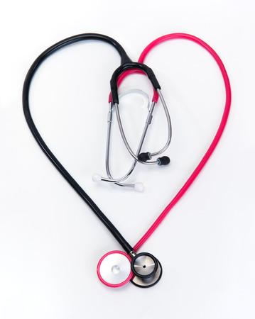 coeur sant�: st�thoscope pour la sant� cardiaque au bureau de m�decins