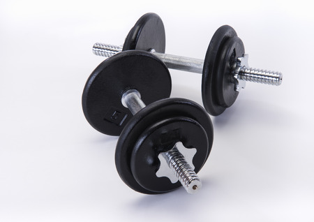 dumb bells: Iron and steel free weights set for fitness
