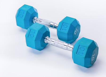 dumb: Blue dumb bells and fit exercise tools