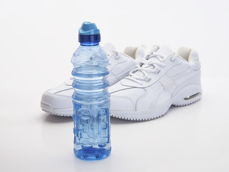 water shoes: Fitness and sports equipment needed gear Stock Photo