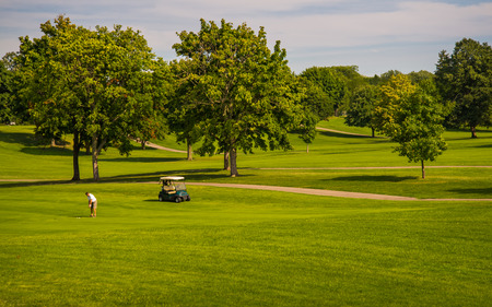 golf cart: Golfing made easy with a electric golf cart Stock Photo