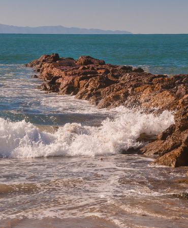 pacific ocean: Pacific ocean rocky shoreline at california beach
