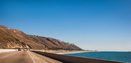 Road trip along Pacific ocean shoreline california