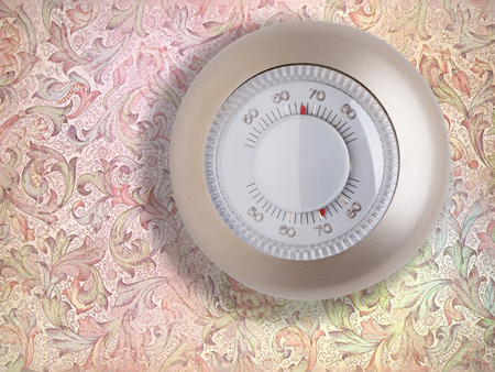 turn dial: Room wall temperature thermostat turn  dial to set