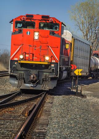 CN rode goederentrein van Detroit Tunnel naar Chicago