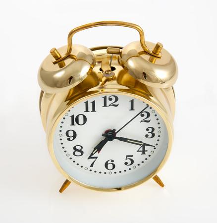 Copper color vintage style bell alarm clock