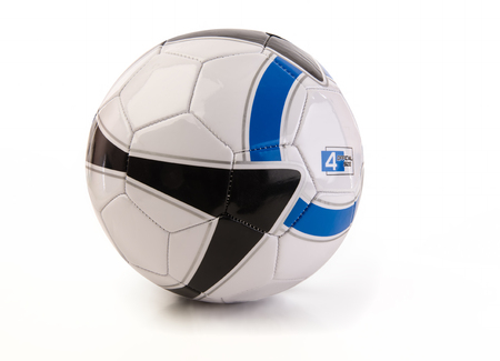Colorful soccer ball on a white background