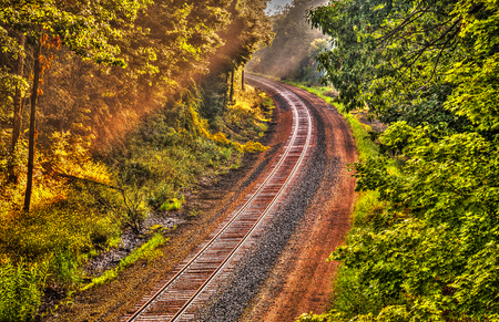 Main line train track Curve
