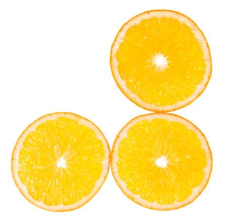 Orange slices for food and drink ingredients