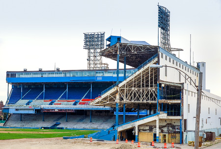 Exposed Grandstands of the old tiger stadium