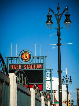 Logo sign at old tiger stadium detroit