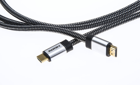 hdmi: Hdmi Peripheral device Cable for add-on electronics Stock Photo