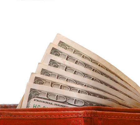 革財布の紙幣のお金