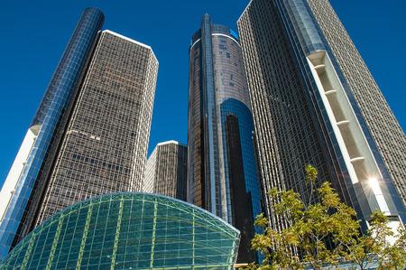 Detroit's iconic Ren Cen complex building downtown