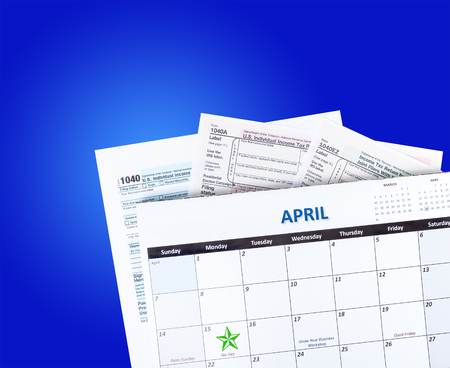 Tax Time Calendar and filing forms
