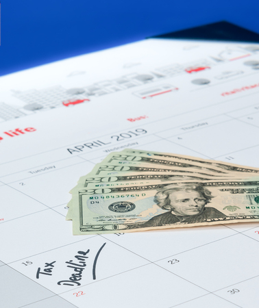 Calendar and cash for owed taxes