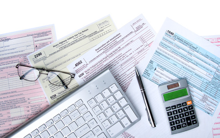 Tools for filing taxes online by computer