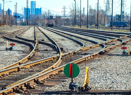 Small Detroit automotive railyard near factory