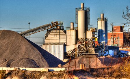 Cement Mixer Plant in Hdr 版權商用圖片