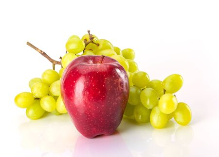 Grapes and Apple for healthy eating snack