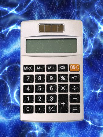 Small handheld calculator for math figures Stockfoto