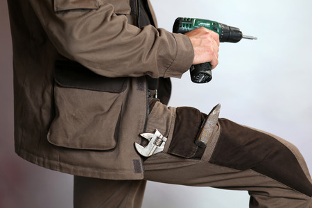 boilersuit: Specialized mens clothing with pocket for instruments