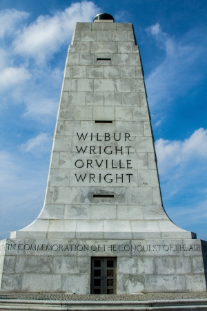 pioneers: shot of the Wriight Brothers Monument, Kitty Hawk, NC