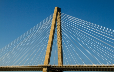 cooper: Cable supports and diamond cantilever truss on the Ravenel Bridge, Mt Pleasant to Charelston, SC
