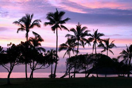 Hawaiian sunrisesunset Reklamní fotografie