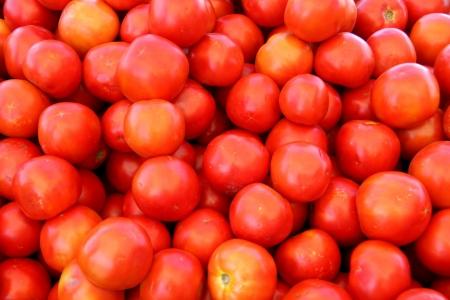 農民市場での有機チェリー トマト 写真素材