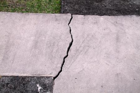cracked cement walkway Stock fotó