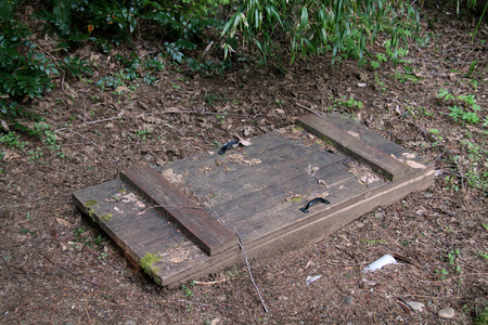 trap door in the ground