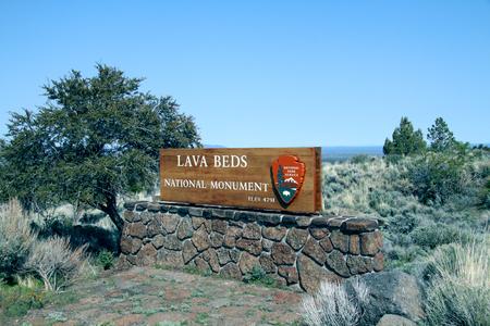 lava beds national park sign