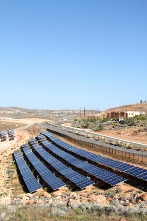 array of solar panels Reklamní fotografie