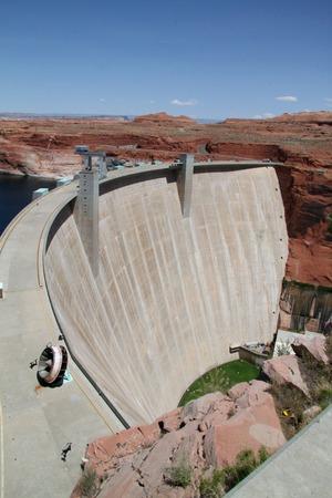 dam at a lake