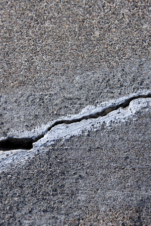 cracked concrete: cracked concrete cement step