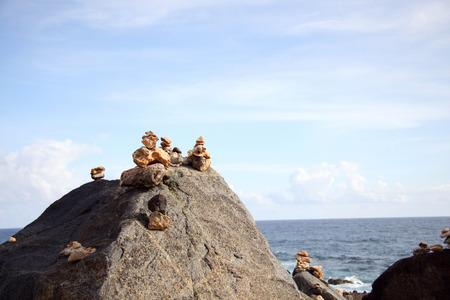 wishing stones rocks stacked up