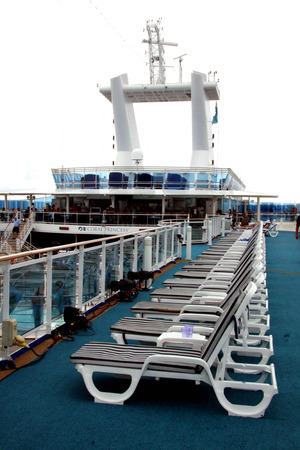deck chairs on a cruise ship