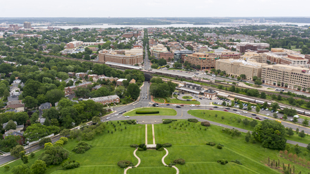 Skyline view of Alexandria, Virginia, USA from the George Washington Masonic Temple. Reklamní fotografie