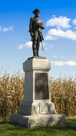 The monument to the 50th Pennsylvania Volunteer Infantry Regiment at Antietam National Battlefield, Sharpsburg, Maryland, USA.