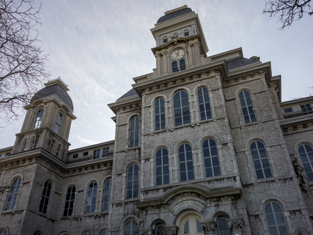 The Hall of Languages at Syracuse University in Syracuse, New York, is the oldest, most iconic building on campus.