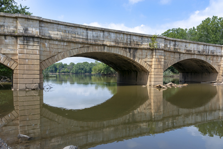 The Monocacy Aqueduct is the largest aqueduct on the Chesapeake and Ohio Canal, crossing the Monocacy River just before it empties into the Potomac River in Frederick County, Maryland, USA.