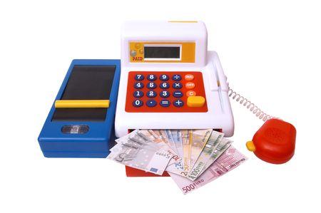 isolated, white, background, money, kasse photo