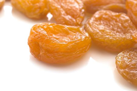 isolated, white, background, apricot, dried Stock Photo
