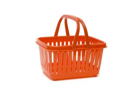 isolated, white, background, basket